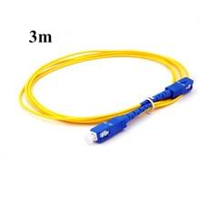 3m  SC UPC TO SC UPC  Fiber Patch Cable Simplex 2.0mm PVC SM,Patch Cord, Optical Fiber Jumper  SX SC Patchcord шнур оптический соединительный sc sc upc sm 9 125 simplex 2 м