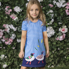 Summer dress for girls Clothes kids 2019 Brand baby with animal embroidery Clothing princess