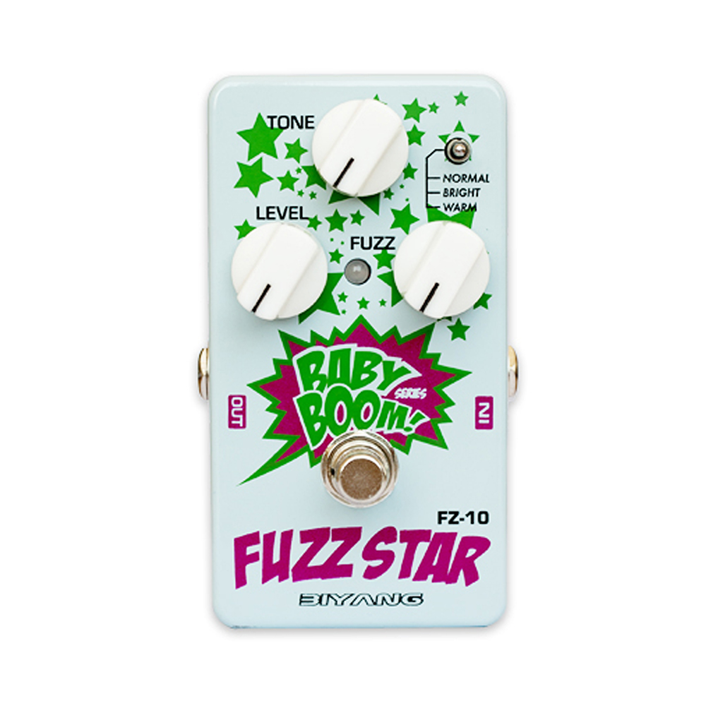 Biyang Fuzz Star Guitar Effect Pedal smooth sounding fuzz distortion Effects Stompbox for Electric Guitar Baby Boom FZ-10 biyang baby boom fz 10 electric guitar effect pedal three models fuzz star distortion true bypass musical instruments