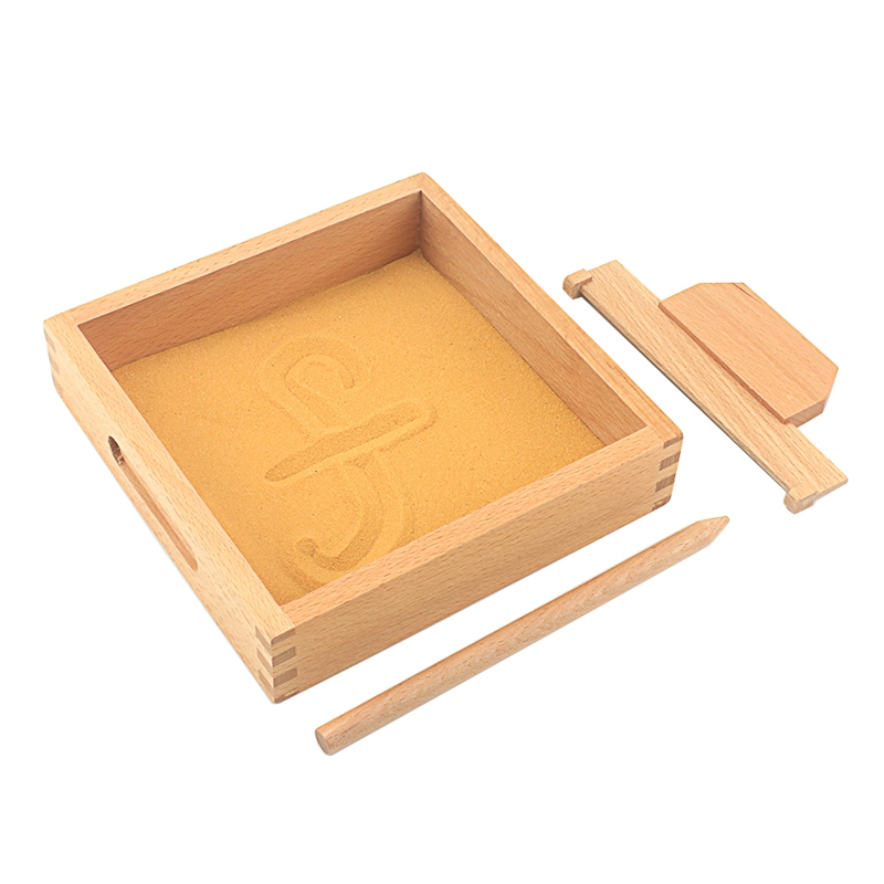 Baby Toy Montessori Language Toy Sand Tray Writing Abilty Yellow Sand Preschool Kindergarten Training Learning Toys For Children