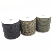GEGEDA  7 stand Paracord 550 4mm rope 100FT Paracord Parachute Cord Lanyard Rope Climbing Camping survival equipment kit
