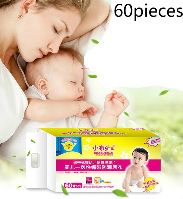 O Envio gratuito de 60 pçs/lote Descartável Gaze À Prova de Vazamento de Fralda de Pano Do Bebê Lavável Respirável Verão Newborn Trocador T01