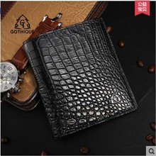 gete 2017 new hot free shipping crocodile skin belly wallet malemen leather wallet vertical screens more business wallet