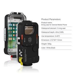 Image 4 - Seafrogs Evrensel Bluetooth Cep telefon kılıfı Kutusu Sualtı 40 m Fotoğraf iPhone Huawei Samsung Için Xiaomi Akıllı Telefon