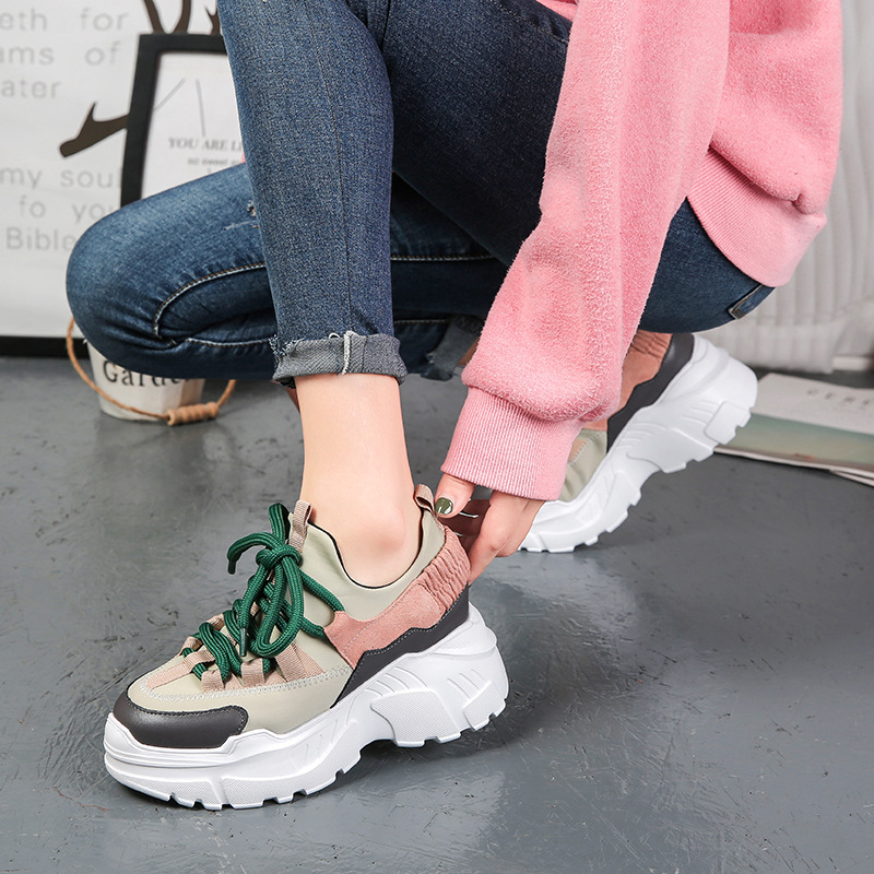 Women Sneakers 2018 New Fashion Women Casual Shoes Trends Ins Female Flats Platform Spring Autumn Lace Up Shoes Woman Size35-40Women Sneakers 2018 New Fashion Women Casual Shoes Trends Ins Female Flats Platform Spring Autumn Lace Up Shoes Woman Size35-40