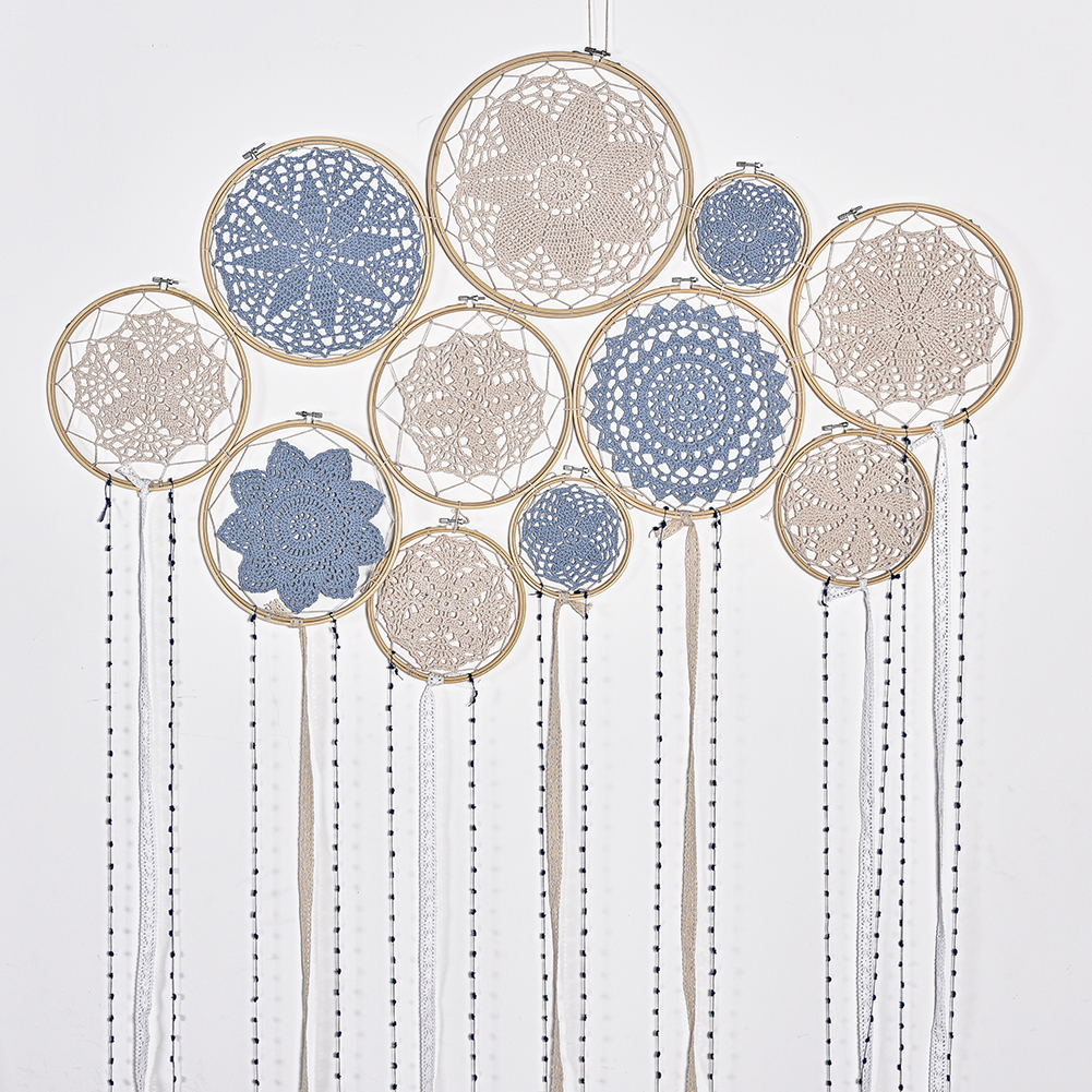 1 set DIY Large Doily Lace Dream Catcher Set Wedding Background Decoration