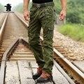 Novas Calças da Carga dos homens Militares Moda Plus Size Multi-bolso Macacão de Algodão Soltas Calças Casuais Para Homens DA5E302