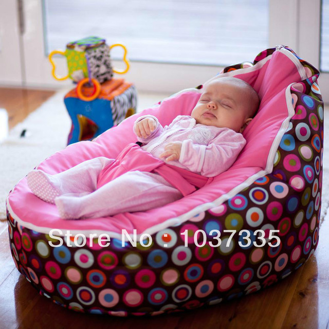 TWO Upper Covers Baby Bean Bag Chair Kids Nursey Beanbag Toddlers Snuggle Beds Infant
