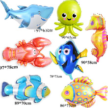 1pc large size fish foil balloons shark clown nemo dory helium for kid birthday party balloon
