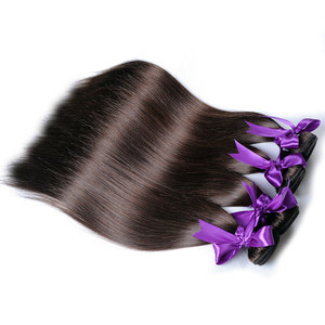 Image 4 - Light Brown Color 4 Straight Bundles Hair Weave Extensions Peruvian 100% Human Hair 1Pc Shining Star Remy  Hair No Tangle