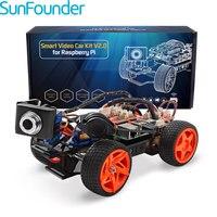 SunFounder Raspberry Pi Smart видео автомобиля KitV2.0 Графический визуального программирования Язык удаленного Управление по UI на Windows/Mac и веб