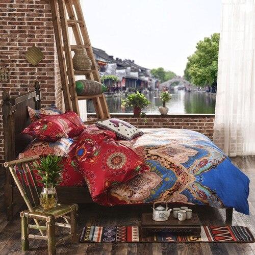 U&H Cheap 3D Hot!Reactive printed 3d oil painting bed set 3d bedding set linen cotton queen size/bedclothes duvet cover