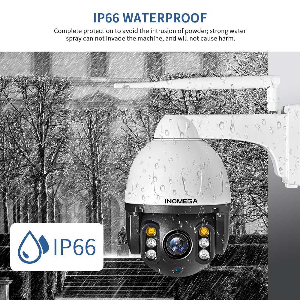 Image 4 - INQMEGA 1080P PTZ IP Camera Auto Tracking Outdoor Onvif Waterproof Mini Speed Dome Camera 2MP IR 30M P2P CCTV Security Camera-in Surveillance Cameras from Security & Protection