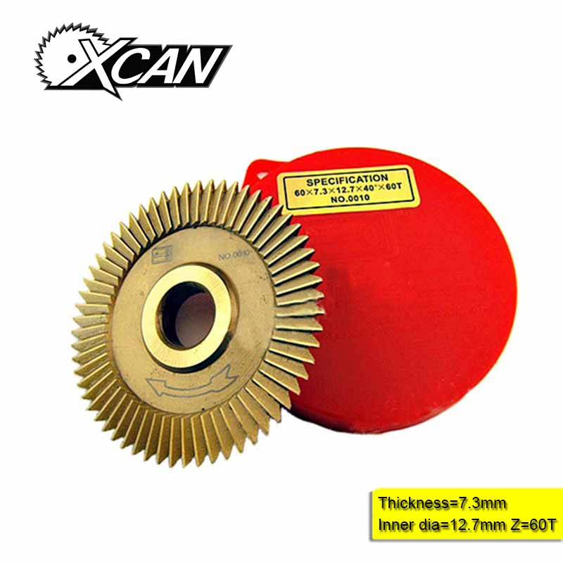 P252 60 * 7,3 * 12,7 mm ašmenys, skirti raktinių mašinų raktų pjaustymo ašmenų šaltkalvio įrankiams