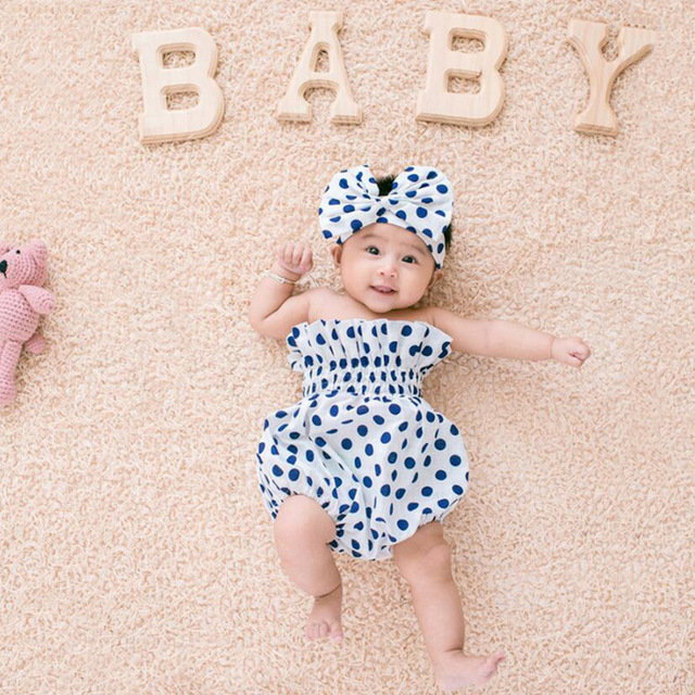 0 6 months baby girl photography prop clothes one set hairband and romper cute newborn