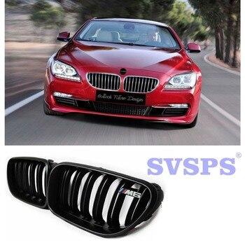 Black Pearl (High) 저 (Quality ABS 앞 중 · 그릴 두 번 판금 Style 두 색 Options 대 한 BMW e6137, 6-series F12 f06 2012-2018 년