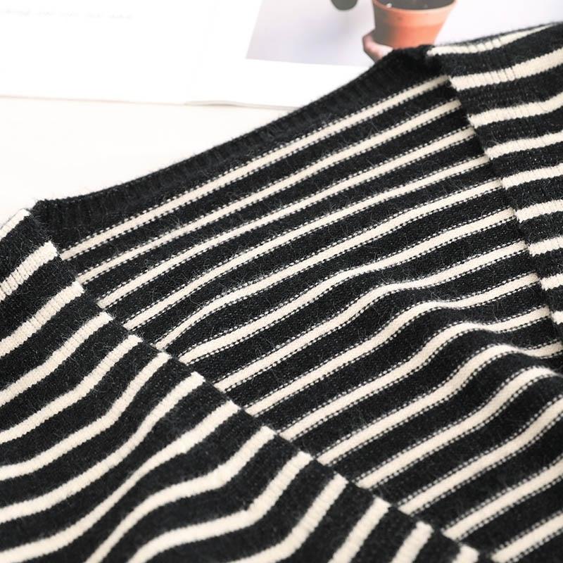 Coton Cardigans Mode Cou Café Automne V Chandails Noir Chandail Longues Femmes Manteau Noir Bleu De Manches marron Rayé marine Hiver 2018 Casual Tops vTwxU4wnq