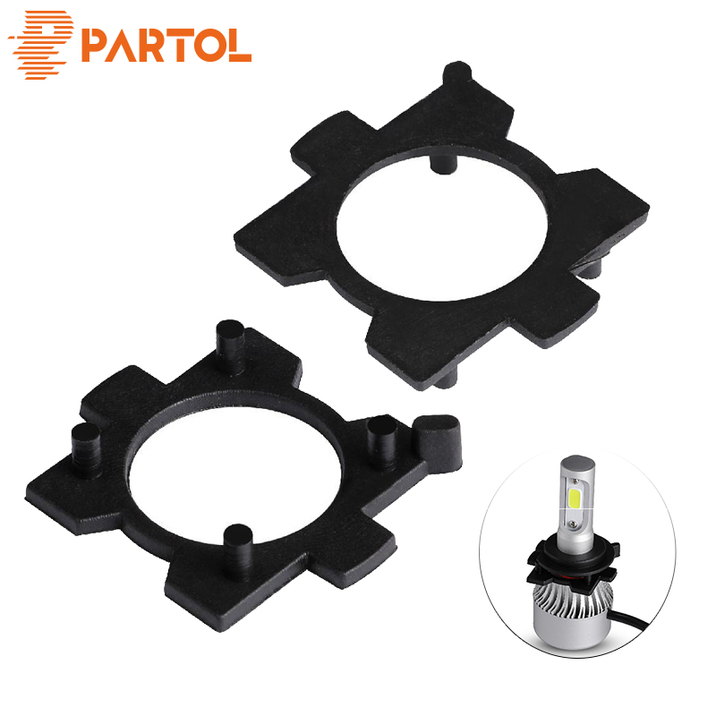 Partol <font><b>H7</b></font> <font><b>LED</b></font> Base Holders Headlights Bulbs <font><b>Adapter</b></font> Sockets for Mazda 3/Mitsubishi <font><b>Outlander</b></font>/LIONVEL <font><b>H7</b></font>/Geely global Eagle image