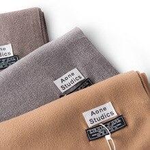 Новое поступление, одноцветные простые кашемировые шарфы с кисточками, женский зимний толстый теплый шерстяной платок, шаль, брендовая, горячая Распродажа