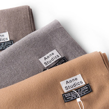 2018 new arrival solid color plain cashmere scarves with tassel women winter thick warm wool scarf shawl wrap brand hot sale