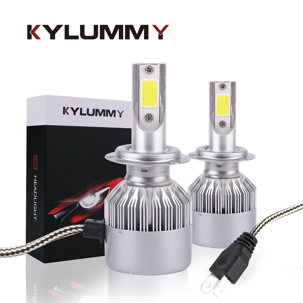 LED H1 H3 H4 H7 H11 H27 9005 9006 H13 Scheinwerfer Lampen Auto Lichter 35 watt 6000 karat 8000Lm Turbo LED Lampe COB Lichter Vorne Nebel Scheinwerfer