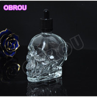 Free Shipping 10 Pcs New Design Empty E Liquid Bottle Wholesale Glass Skull Bottle With Childproof