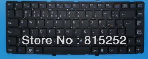 Laptop Keyboard For SONY Vpc-Ea Black(Without Frame) Brazil BR 148792361 laptop keyboard for sony svf13n black without frame sk slovakian 9z nabbq 209