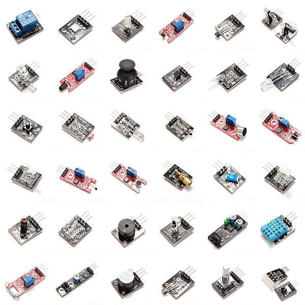 (Touch Module Voor Gratis Geschenk) 37 In 1 Sensor Kits Voor Diy Hoge Kwaliteit Module Board Set Kit Voor Arduino Kartonnen Doos Pakket