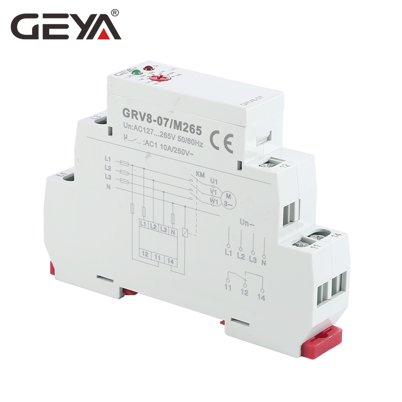 GEYA Phase Monitor Relay with Asymmetry and Delay Time Function 45 65Hz Din Rail Type Electronic Relay in Relays from Home Improvement