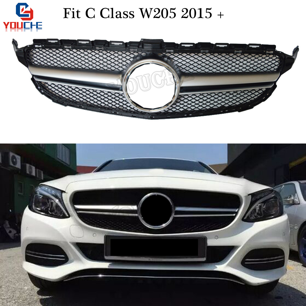 W205 AMG Style Front Bumper Grill Mesh For Mercedes W205 C