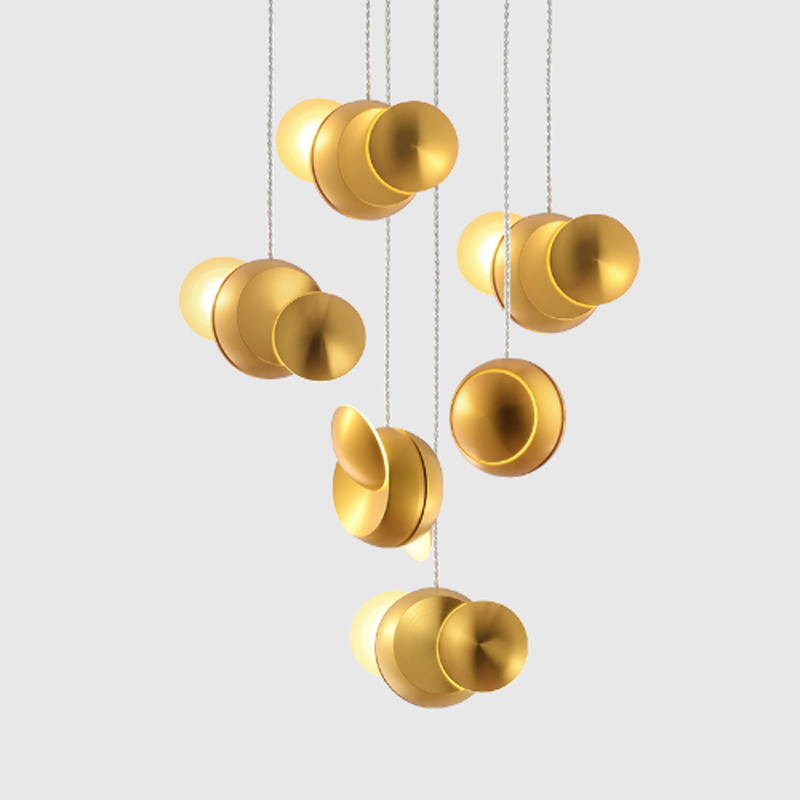 Modern creative deformable rotating bedroom decoration DIY metal single ball chandelier personality golden LED hanging lighting Modern creative deformable rotating bedroom decoration DIY metal single ball chandelier personality golden LED hanging lighting