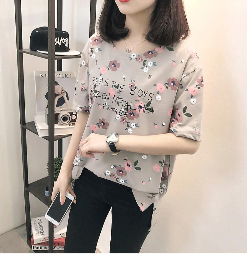 Casual Loose Women Summer T-shirt Womens O-neck Printing Cute T-shirts Female Sweet Girls Tops Females Korean Style New Trendy 9