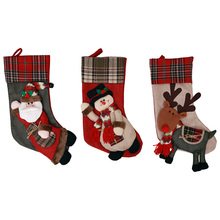 New Year 2019 Christmas Decorations Santa Claus Christmas Stocking Candy Socks Christmas Gift Bags for Home SD444