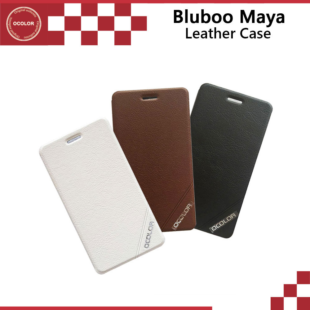 ocolor For Bluboo Maya Flip Leather Case With Plastic Shell New Arrival original Mobile Phone Cover +In Stock
