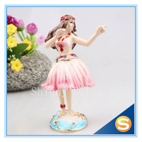 Wedding Gifts Angel Decoration Gifts Vintage Girl Dancing Jewelry Box Hula Girls Shaped Metal Signs