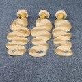 613 Blonde Virgin Hair 3 Bundles 8A Grade Unprocessed Brazilian Blonde Human Hair Extensions 100% Brazilian Virgin Hair Weaves