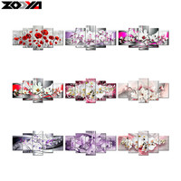 ZOOYA 5d Diy Diamond Embroidery Colorful Dream Flower Diamond Painting Cross Stitch Full Square Rhinestone Mosaic
