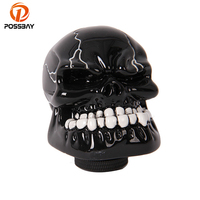 POSSBAY 95% OFF Human Carved Skull Head Gear Shift Knobs Manual Transmission Car Gear Stick Shift Shifter Knobs Universal