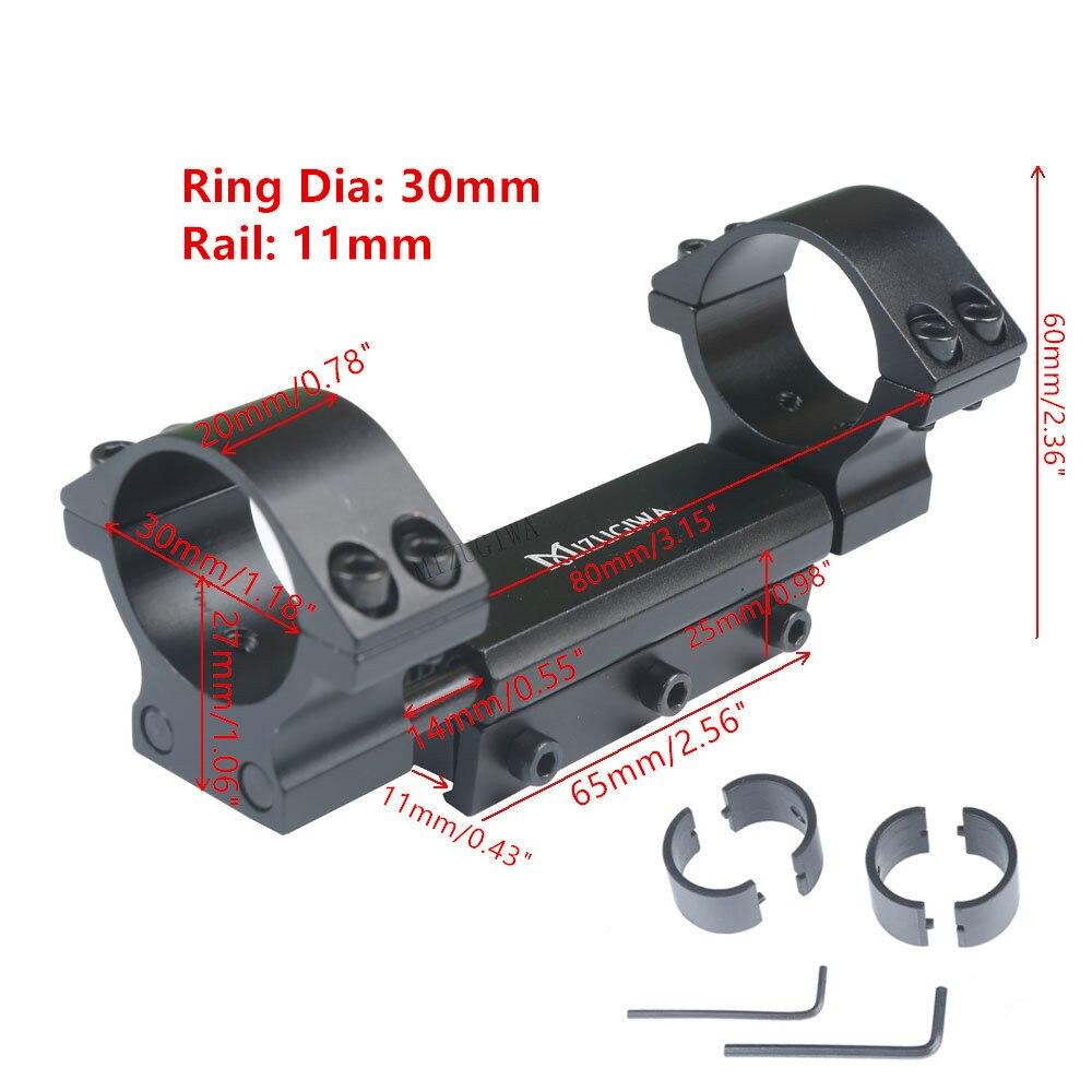"""Portée de montage 25.4mm 1 """"/30mm anneaux avec goupille d'arrêt zéro recul montage ajustement 11mm queue d'aronde Picatiiny Rail tisserand chasse pas de logo"""