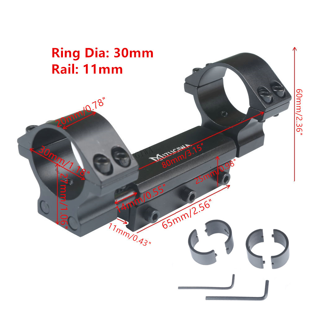 "Scope Mount 25.4mm 1"" / 30mm Rings W/Stop Pin Zero Recoil Mount Fit 11mm Dovetail Picatiiny Rail Weaver Hunting No Logo"