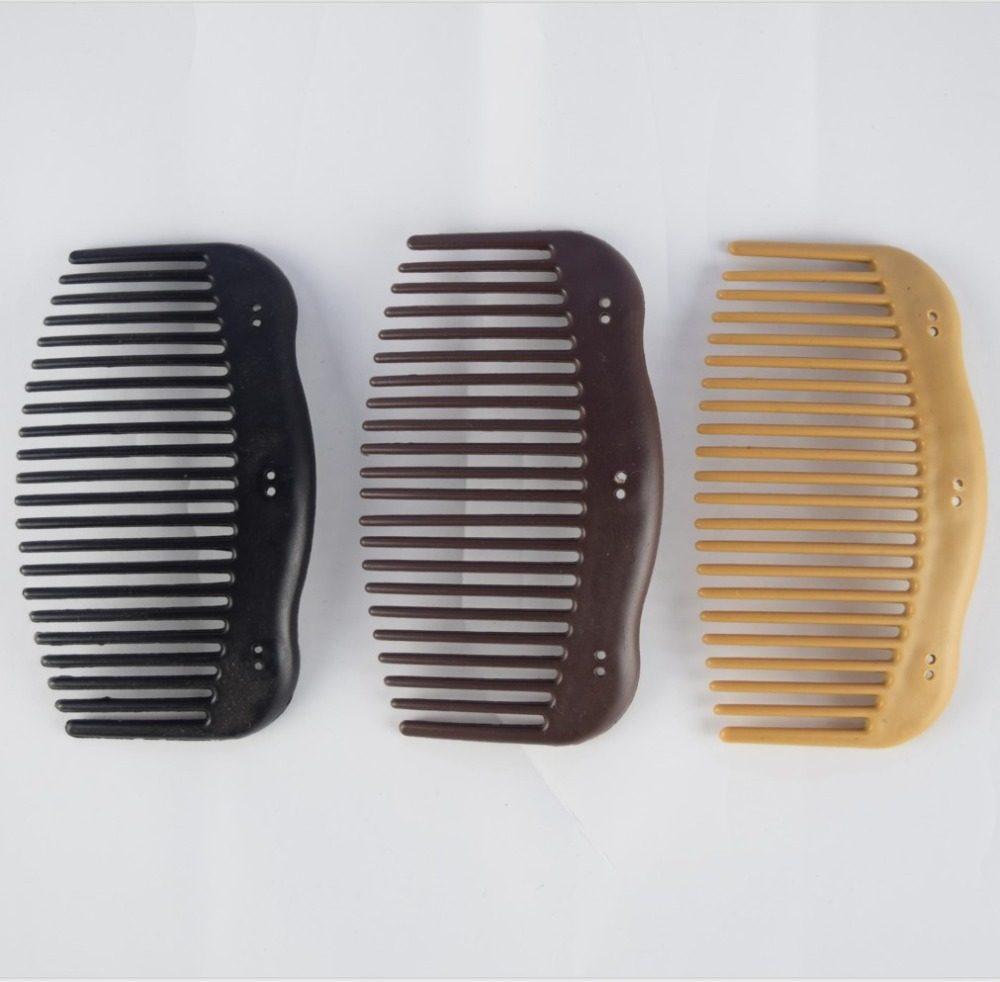 100pcs lot plain hair comb without beads with curvy sides high quality plastic diy wooden magic