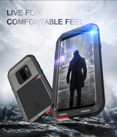 Heavy Duty Protection Dustproof Shockproof Cover for Samsung Galaxy S8 S9 Plus S7 Edge Full Coverage Case for Samsung Note 8 9