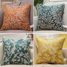 Avigers 6 Colors Home Decorative Luxury Cushion Covers Floral Plant Square Pillow Cases for Sofa Bedroom Living Room Blue XY цены