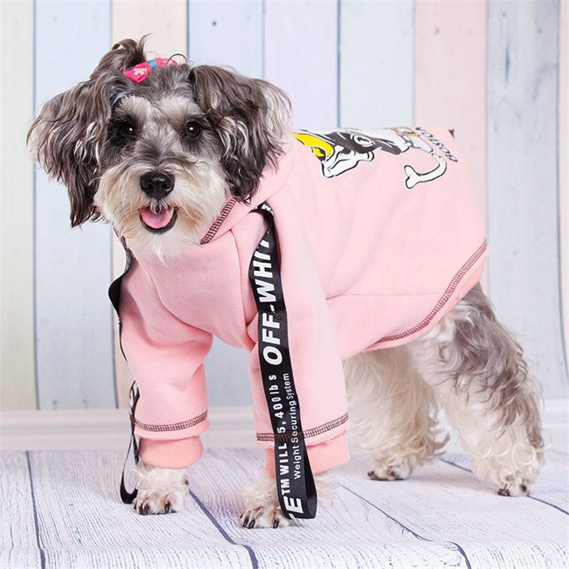 New Fashion Autumn/winter Pet Dog Clothes Polyester Double Foot Fashion Thickening Hooded Dog Clothes Pet Supplies(green,pink)