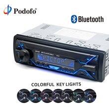 Podofo 12 В аудио стерео автомобильный Радио Bluetooth телефон AUX-IN MP3/FM/USB/1Din/дистанционный пульт в тире громкой связи аудио плеер