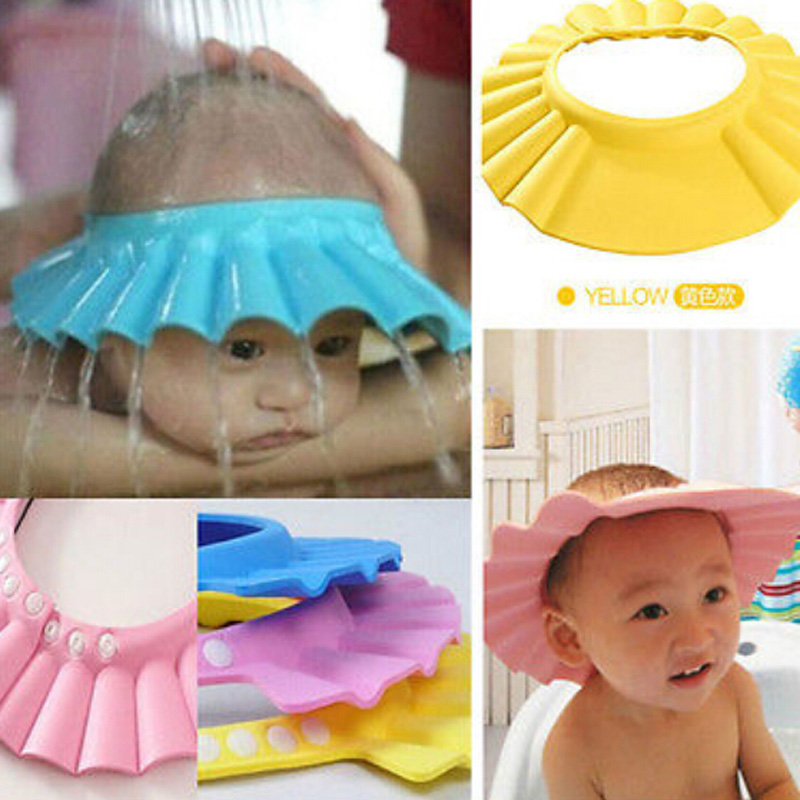 1 Piece Safe Shampoo Shower Bathing Bath Protect Soft Cap Hat For Baby Wash Hair Shield Bebe Children Bathing Shower Cap Hat Kid
