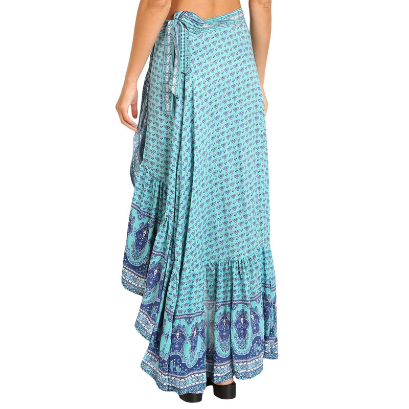 10bb94ff11 Liva Girl Bohemian Plus Size Floral Print Maxi Skirt Women Gypsy Style A  Line Skirts Boho High Low Autumn Sarong Beach Skirt XXL-in Skirts from  Women's ...
