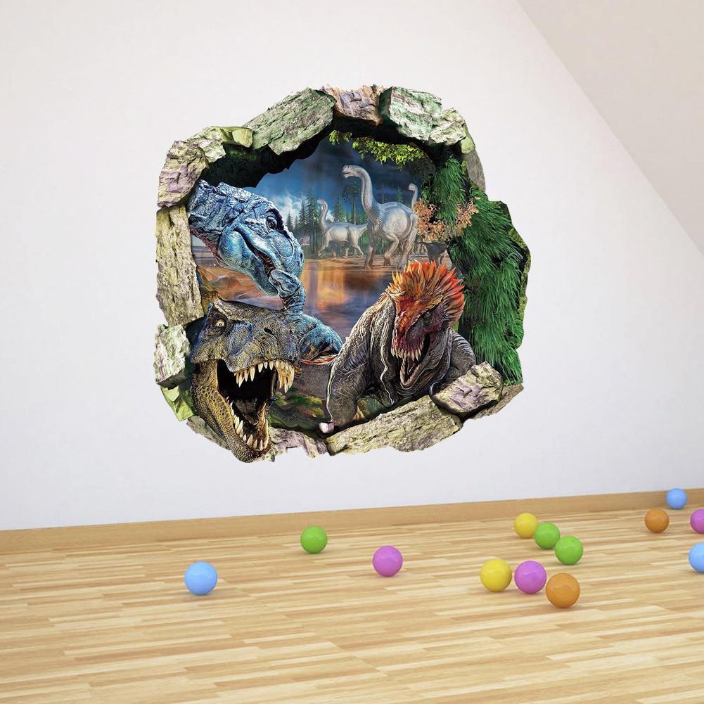 3d adesivi murali dinosauri jurassic park decorazione della casa diy del fumetto camera dei bambini adesivo.jpg