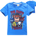 4-12 Years 100% Cotton Five Nights At Freddy T Shirt For Boy Girl 2017 Summer Baby Girls Boys Five Nights At Freddies Costume