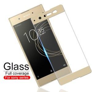 Image 1 - Szkło hartowane dla Sony Xperia XA1 XA2 XA3 Plus Ultra XZ4 szkło ochronne folia ochronna na ekran na G3112 G3412 G3221 H4113 okładka
